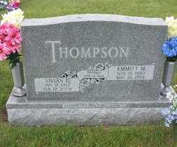 THOMPSON, EMMITT - Holt County, Nebraska | EMMITT THOMPSON - Nebraska Gravestone Photos