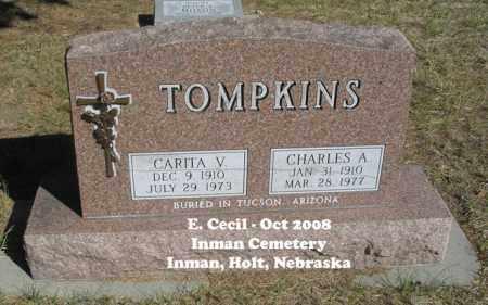 TOMPKINS, CHARLES A. - Holt County, Nebraska | CHARLES A. TOMPKINS - Nebraska Gravestone Photos