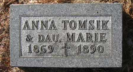 TOMSIK, MARIE - Holt County, Nebraska | MARIE TOMSIK - Nebraska Gravestone Photos