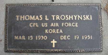 TROSHYNSKI, THOMAS L - Holt County, Nebraska | THOMAS L TROSHYNSKI - Nebraska Gravestone Photos