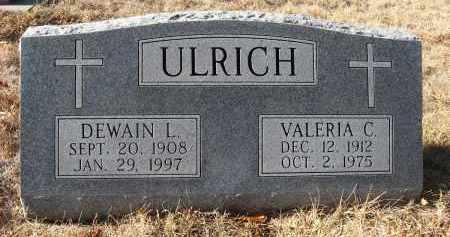 ULRICH, VALERIA C - Holt County, Nebraska   VALERIA C ULRICH - Nebraska Gravestone Photos