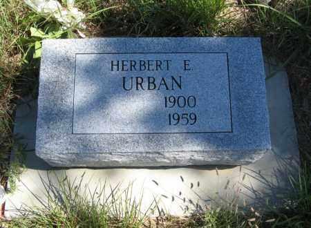 URBAN, HERBERT E. - Holt County, Nebraska   HERBERT E. URBAN - Nebraska Gravestone Photos