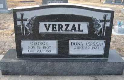 VERZAL, GEORGE - Holt County, Nebraska   GEORGE VERZAL - Nebraska Gravestone Photos