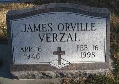 VERZAL, JAMES ORVILLE - Holt County, Nebraska | JAMES ORVILLE VERZAL - Nebraska Gravestone Photos