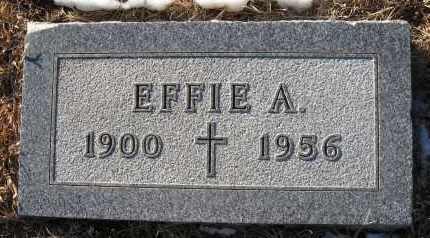 VROOMAN, EFFIE A - Holt County, Nebraska | EFFIE A VROOMAN - Nebraska Gravestone Photos