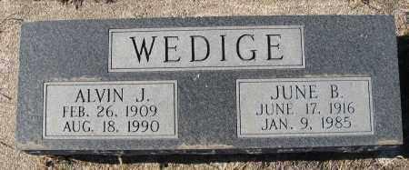 WEDIGE, JUNE B - Holt County, Nebraska | JUNE B WEDIGE - Nebraska Gravestone Photos
