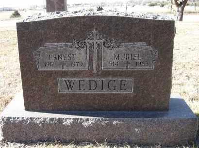 WEDIGE, ERNEST - Holt County, Nebraska | ERNEST WEDIGE - Nebraska Gravestone Photos