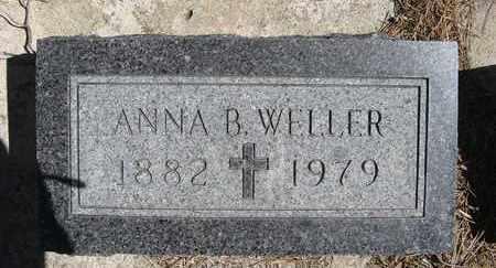 WELLER, ANNA B - Holt County, Nebraska   ANNA B WELLER - Nebraska Gravestone Photos