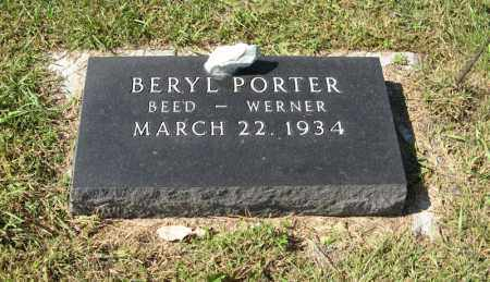 WERNER, BERYL - Holt County, Nebraska   BERYL WERNER - Nebraska Gravestone Photos