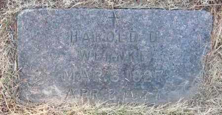 WERNKE, HAROLD D - Holt County, Nebraska | HAROLD D WERNKE - Nebraska Gravestone Photos