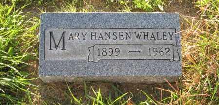 WHALEY, MARY - Holt County, Nebraska | MARY WHALEY - Nebraska Gravestone Photos