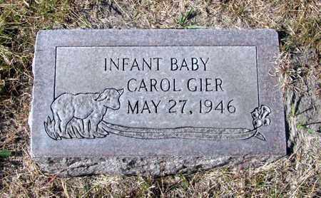 GIER, CAROL - Hooker County, Nebraska | CAROL GIER - Nebraska Gravestone Photos