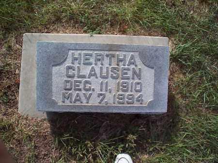 RASMUSSEN CLAUSEN, HERTHA - Howard County, Nebraska | HERTHA RASMUSSEN CLAUSEN - Nebraska Gravestone Photos