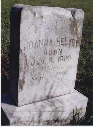 HELVEY, JOANNA - Jefferson County, Nebraska | JOANNA HELVEY - Nebraska Gravestone Photos