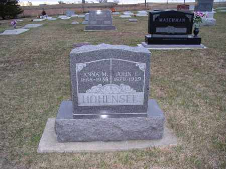 HOHENSEE, ANNA - Jefferson County, Nebraska | ANNA HOHENSEE - Nebraska Gravestone Photos