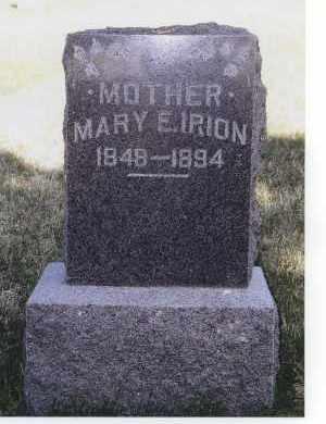 IRION, MARY E. - Jefferson County, Nebraska | MARY E. IRION - Nebraska Gravestone Photos