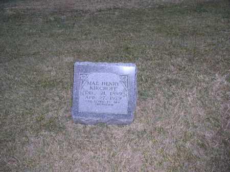 HENRY KIRCHOFF, MAE - Jefferson County, Nebraska | MAE HENRY KIRCHOFF - Nebraska Gravestone Photos