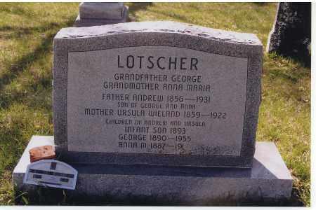 LOTSCHER, ANDREW - Jefferson County, Nebraska | ANDREW LOTSCHER - Nebraska Gravestone Photos