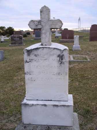 MASCHMAN, KATHARINE MARIA - Jefferson County, Nebraska | KATHARINE MARIA MASCHMAN - Nebraska Gravestone Photos