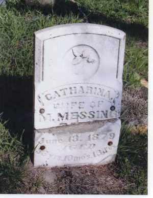MESSING, CATHARINA - Jefferson County, Nebraska | CATHARINA MESSING - Nebraska Gravestone Photos