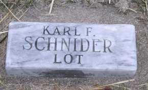 SCHNIDER, KARL F. - Jefferson County, Nebraska | KARL F. SCHNIDER - Nebraska Gravestone Photos