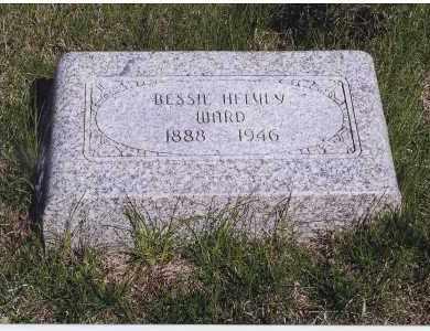 HELVEY WARD, BESSIE - Jefferson County, Nebraska | BESSIE HELVEY WARD - Nebraska Gravestone Photos