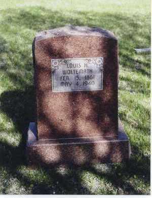 WOLTEMATH, LOUIS H. - Jefferson County, Nebraska   LOUIS H. WOLTEMATH - Nebraska Gravestone Photos