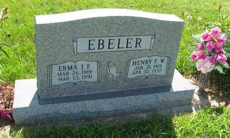 EBELER, ERMA I. F. - Johnson County, Nebraska | ERMA I. F. EBELER - Nebraska Gravestone Photos