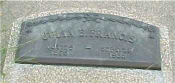 KRESS FRANCIS, JULIA - Johnson County, Nebraska   JULIA KRESS FRANCIS - Nebraska Gravestone Photos