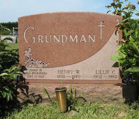 GRUNDMAN, LILLIE C. - Johnson County, Nebraska | LILLIE C. GRUNDMAN - Nebraska Gravestone Photos