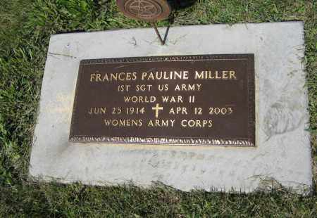 MILLER, FRANCES PAULINE - Johnson County, Nebraska | FRANCES PAULINE MILLER - Nebraska Gravestone Photos