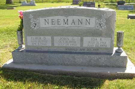 NEEMANN, ELMER D. - Johnson County, Nebraska   ELMER D. NEEMANN - Nebraska Gravestone Photos