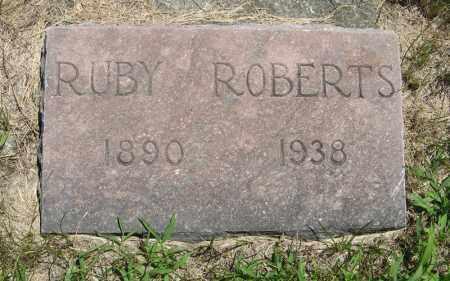 ROBERTS, RUBY - Johnson County, Nebraska   RUBY ROBERTS - Nebraska Gravestone Photos