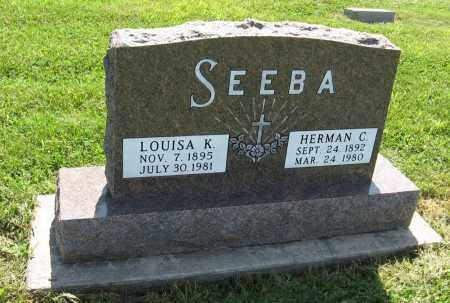 SEEBA, HERMAN C. - Johnson County, Nebraska | HERMAN C. SEEBA - Nebraska Gravestone Photos