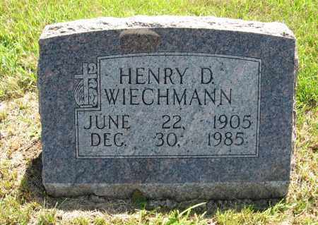 WIECHMANN, HENRY D. - Johnson County, Nebraska | HENRY D. WIECHMANN - Nebraska Gravestone Photos