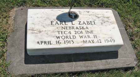 ZABEL, EARL L. - Johnson County, Nebraska | EARL L. ZABEL - Nebraska Gravestone Photos
