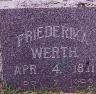 WERTH, FRIEDERIKA - Kearney County, Nebraska   FRIEDERIKA WERTH - Nebraska Gravestone Photos