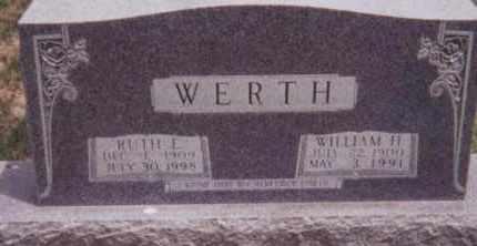 PLAMBECK WERTH, RUTH E. - Kearney County, Nebraska   RUTH E. PLAMBECK WERTH - Nebraska Gravestone Photos