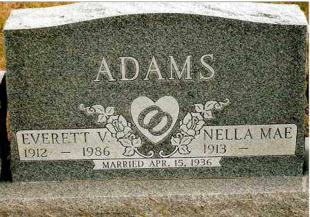 ADAMS, EVERETT V. - Keya Paha County, Nebraska | EVERETT V. ADAMS - Nebraska Gravestone Photos