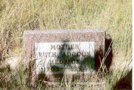 ADCOCK-HEDRICK, RUTH - Keya Paha County, Nebraska | RUTH ADCOCK-HEDRICK - Nebraska Gravestone Photos
