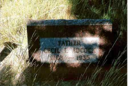 ADCOCK, CECIL L. - Keya Paha County, Nebraska   CECIL L. ADCOCK - Nebraska Gravestone Photos