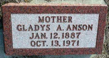 ANSON, GLADYS A. - Keya Paha County, Nebraska | GLADYS A. ANSON - Nebraska Gravestone Photos