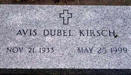 DUBEL KIRSH, AVIS - Keya Paha County, Nebraska   AVIS DUBEL KIRSH - Nebraska Gravestone Photos