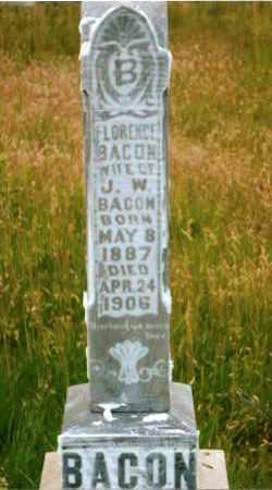 BACON, FLORENCE - Keya Paha County, Nebraska | FLORENCE BACON - Nebraska Gravestone Photos