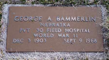 BAMMERLIN, GEORGE A. - Keya Paha County, Nebraska   GEORGE A. BAMMERLIN - Nebraska Gravestone Photos