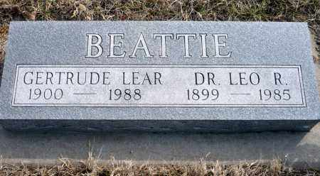 LEAR BEATTIE, GERTRUDE - Keya Paha County, Nebraska | GERTRUDE LEAR BEATTIE - Nebraska Gravestone Photos