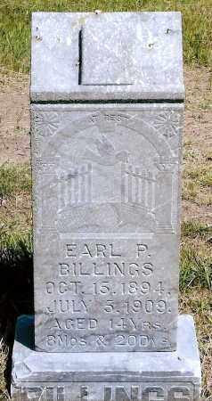 BILLINGS, EARL P. - Keya Paha County, Nebraska | EARL P. BILLINGS - Nebraska Gravestone Photos