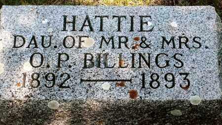 BILLINGS, HATTIE - Keya Paha County, Nebraska | HATTIE BILLINGS - Nebraska Gravestone Photos