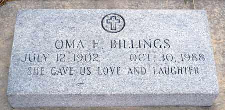 BILLINGS, OMA E. - Keya Paha County, Nebraska   OMA E. BILLINGS - Nebraska Gravestone Photos