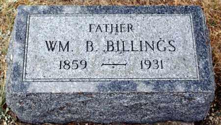BILLINGS, WILLIAM B. - Keya Paha County, Nebraska   WILLIAM B. BILLINGS - Nebraska Gravestone Photos